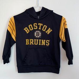 NHL Boston Bruins Front Pocket Hoodie XS 4/5
